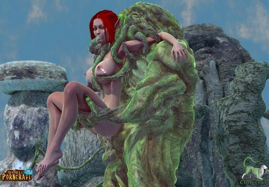 Snow elf raped by monsters porn comics