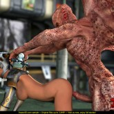 Fleshy horny monster at 3D Monster Porn